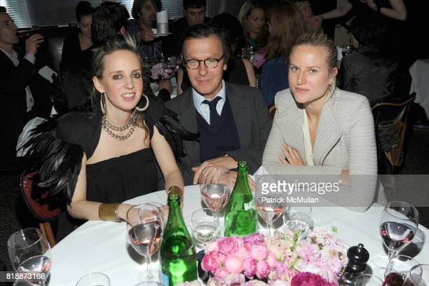 Hope Atherton Hugo Guinness and Olympia Scarry attend CHANEL hosts 5th Annual TRIBECA FILM FESTIVAL Dinner INSIDE at The Odeon on April 28 2010 in...