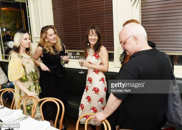 Hope Atherton Malina Gilchrist Beth Fenton and Mickey Boardman attends the Saks Fifth Avenue and Simone Rocha dinner to Celebrate the Exclusive...
