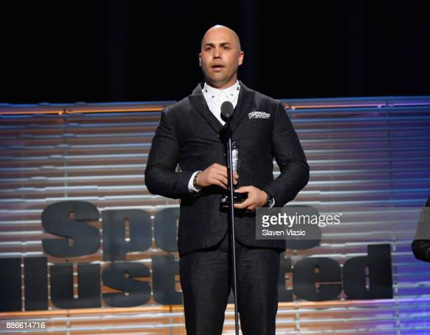 Hope Awards Recipient Carlos Beltran speaks onstage SPORTS ILLUSTRATED 2017 Sportsperson of the Year Show on December 5 2017 at Barclays Center in...