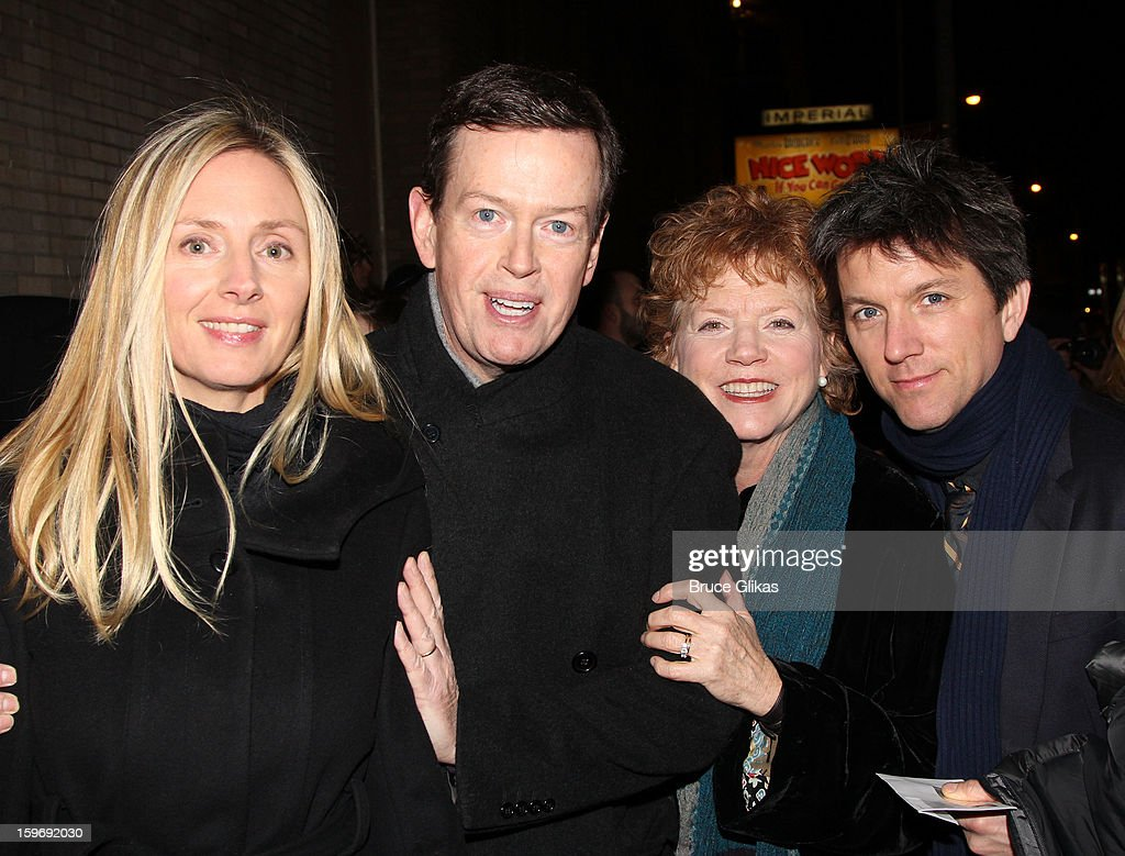 Hope Davis, Dylan Baker, Becky Ann Baker and Jon Patrick Walker attend the Broadway opening night of 'Cat On A Hot Tin Roof' at The Richard Rodgers Theatre on January 17, 2013 in New York City.