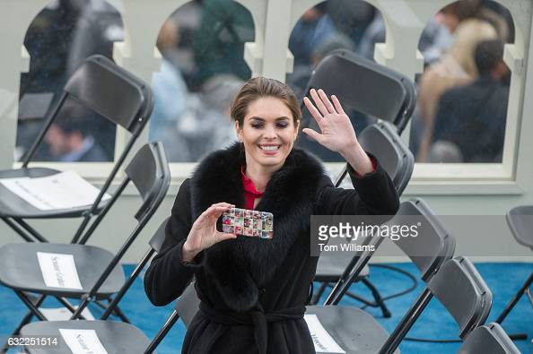 Hope Hicks aide to President Donald J Trump takes a picture on the ...