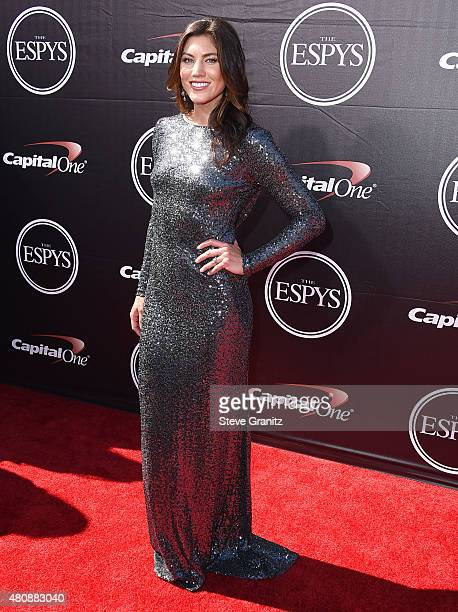 Hope Solo arrives at the The 2015 ESPYS at Microsoft Theater on July 15 2015 in Los Angeles California