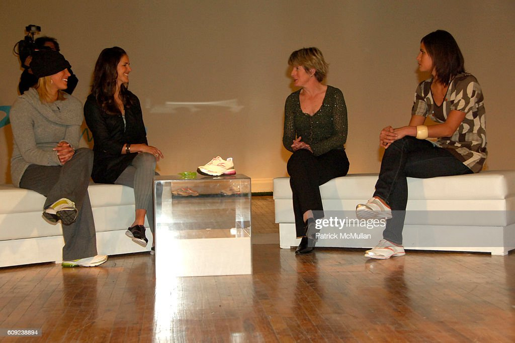 Hope Solo, Brandi Chastain, Clare Hamill and Logan Tom attend TAILWIND Product Showcase Featuring Brandi Chastain at Lotus Space on February 26, 2007 in New York City.