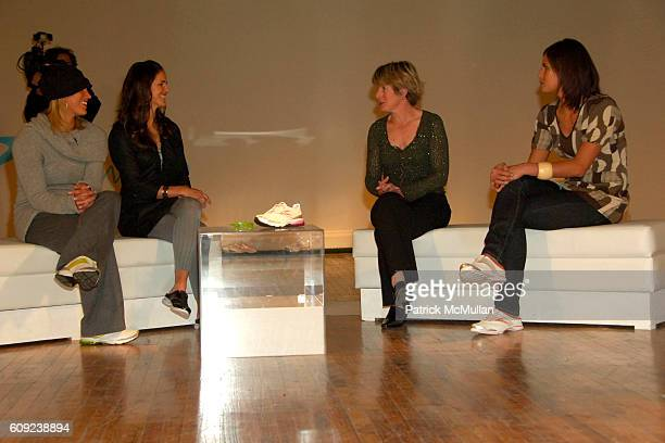 Hope Solo Brandi Chastain Clare Hamill and Logan Tom attend TAILWIND Product Showcase Featuring Brandi Chastain at Lotus Space on February 26 2007 in...