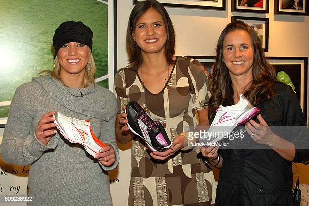 Hope Solo Logan Tom and Brandi Chastain attend TAILWIND Product Showcase Featuring Brandi Chastain at Lotus Space on February 26 2007 in New York City