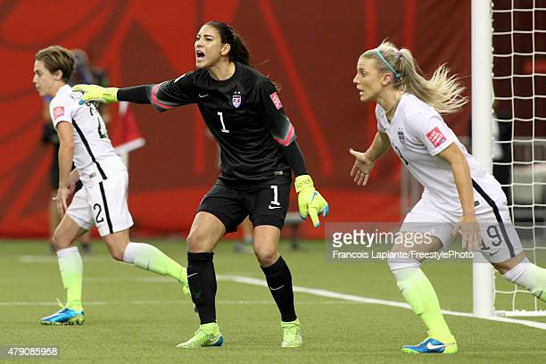 Hope Solo of the United States calls out from the goal in the second half while taking on Germany in the FIFA Women's World Cup 2015 SemiFinal Match...