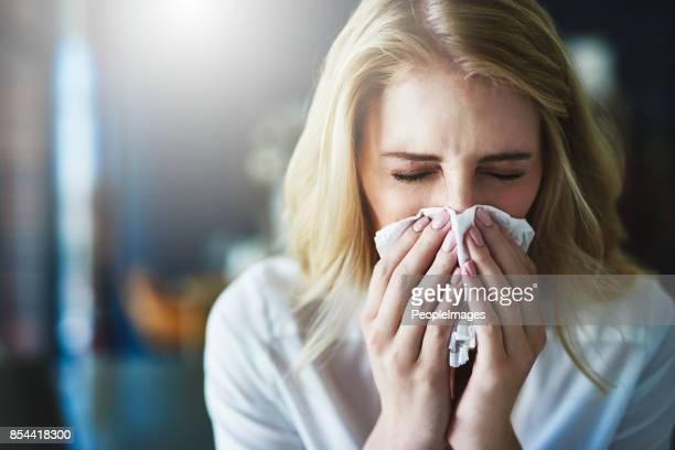 Ich hoffe, dass diese Grippe schnell weggeht