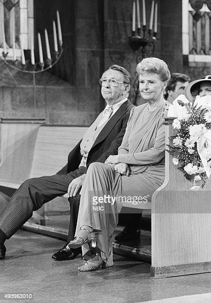 LIVES 'Hope Williams and Larry Welch Wedding' Pictured Macdonald Carey as Tom Horton Frances Reid as Alice Horton