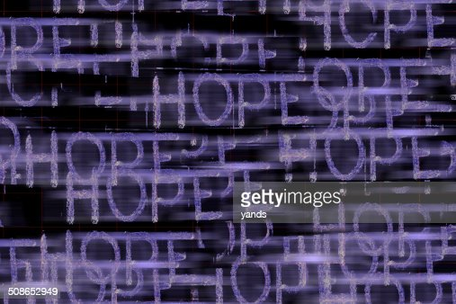 Hope Word : Stock Photo
