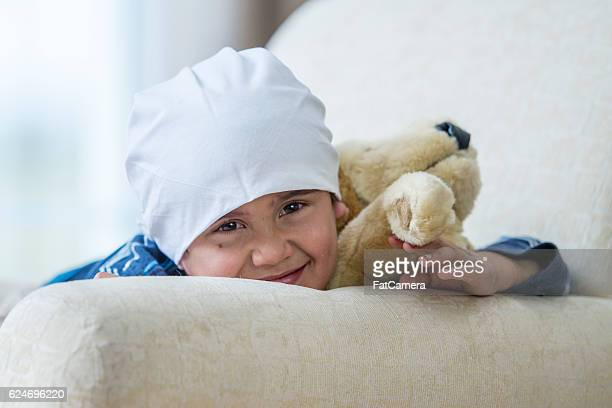 Hopeful Child with Cancer