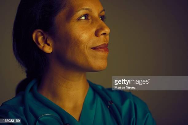 hopeful female doctor