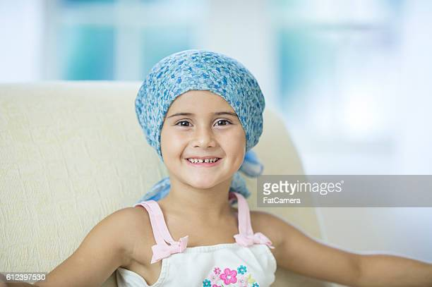 Hopeful Girl with Cancer
