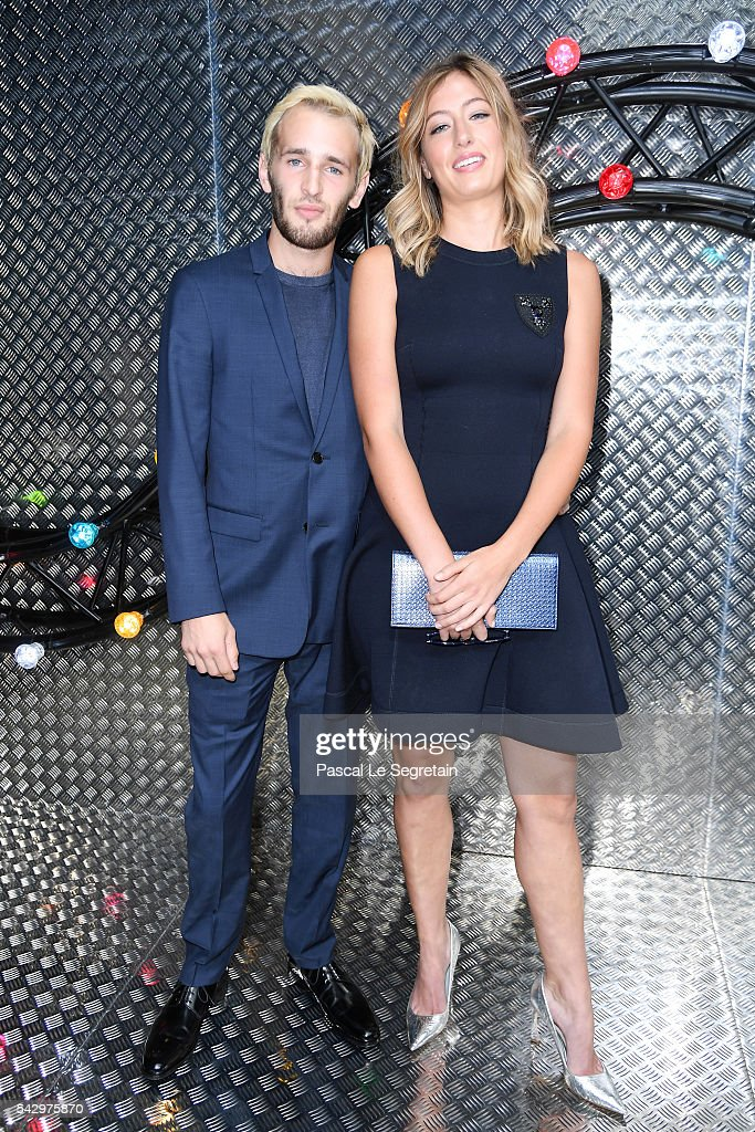Hopper Jack Penn and Uma von Wittkamp attend the Dior Homme Menswear Spring/Summer 2017 show as part of Paris Fashion Week on June 25, 2016 in Paris, France.