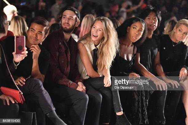 Hopper Penn Dylan Penn Tinashe Stephen Gan and Yolanda Hadid attend Desigual fashion show during New York Fashion Week The Shows at Gallery 1...