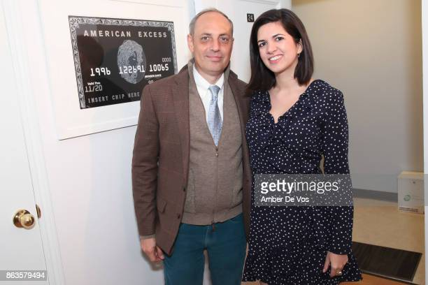 Horacio Fabiano and Camila Sarmiento attend Kristin Simmons solo show 'Desperate Pleasures' on October 19 2017 in New York City