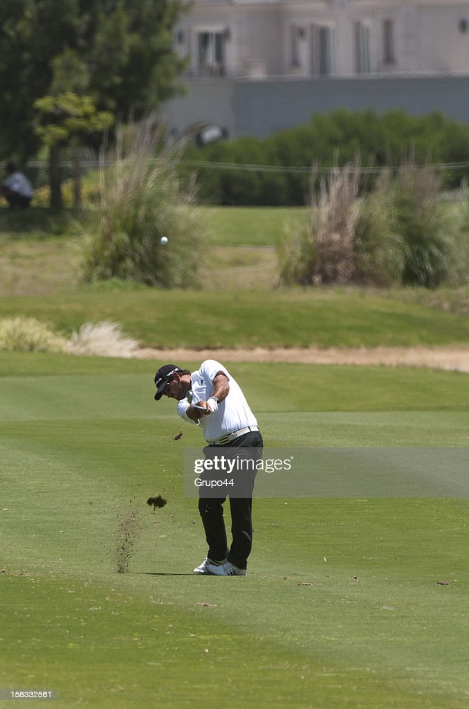 Horacio Leon of Chile plays a shot during the opening day of the 107 Visa Golf Open presented by Peugeot as part of the PGA Latin America at Nordelta Golf Club on December 13, 2012 in Buenos Aires, Argentina.