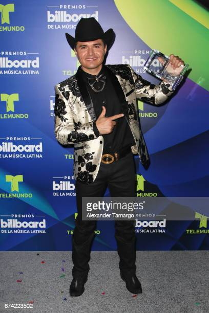 Horacio Palencia poses with award in the press room during the Billboard Latin Music Awards at Watsco Center on April 27 2017 in Coral Gables Florida