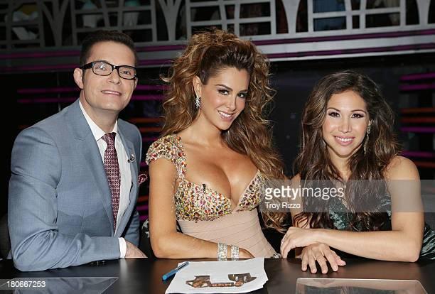 Horacio Villalobos Ninel Conde and Biana Marroquin participate in premiere of Univision's 'Mira Quien Baila'show on September 14 2013 in Miami Florida