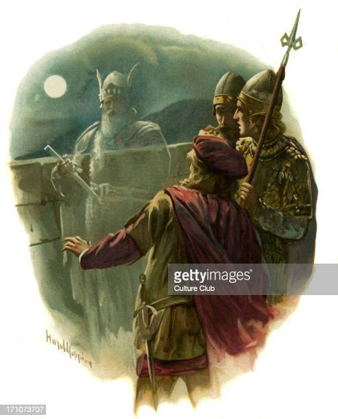 Horatio sees the ghost of the King of Denmark in the play Hamlet Prince of Denmark by William Shakespeare Act I Scene 1 Horatio ' before my God I...