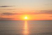 Horizon and sunrise
