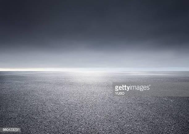 Horizon over land