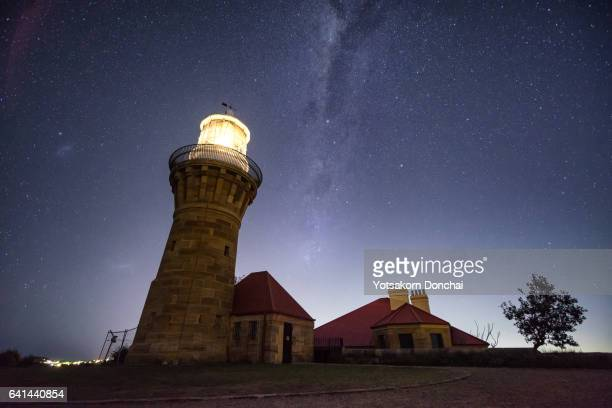 Horizon View of Milky way with Barrenjoey Lighthouse, Palm Beach