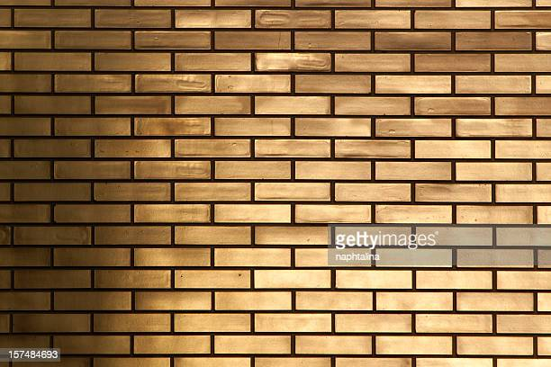 horizontal Gold brick wall