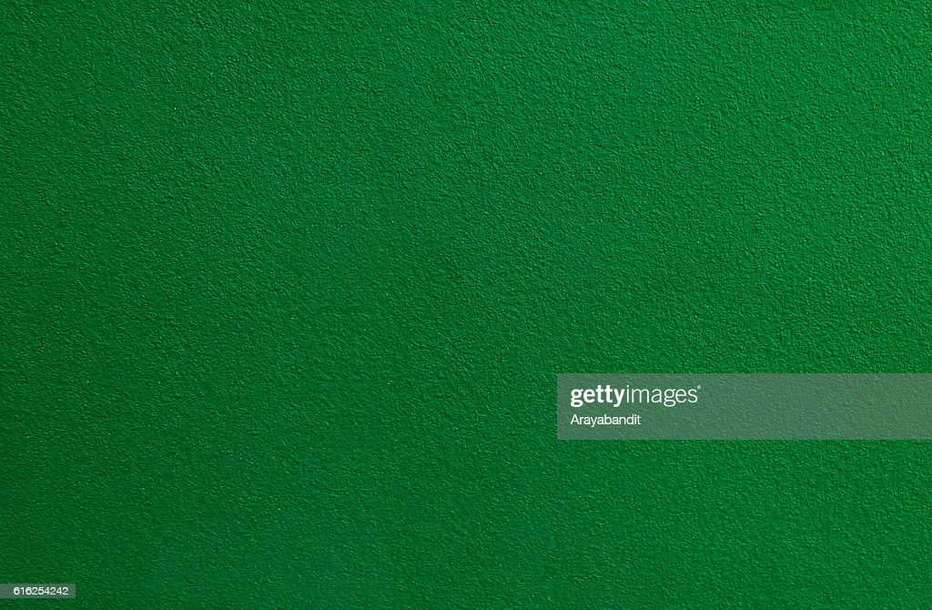 Horizontal Texture of Green Olive Stucco Wall Background : Stock Photo