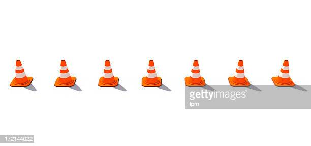 Horizontally lined-up Cones