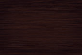 Fine natural dark wood background. A wood grain pattern featuring even grains of wood running horizontally across the image. The panel is new, clean and without damages.