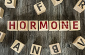 Wooden Blocks with the text: Hormone
