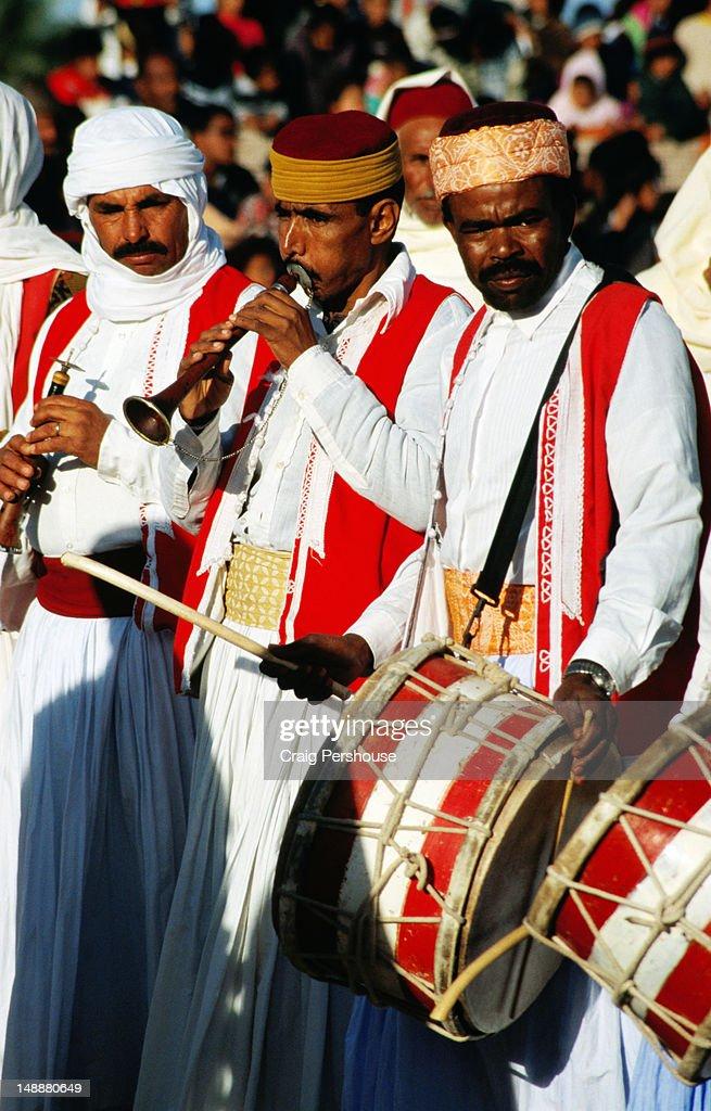 Horn and drum band, Sahara Festival.