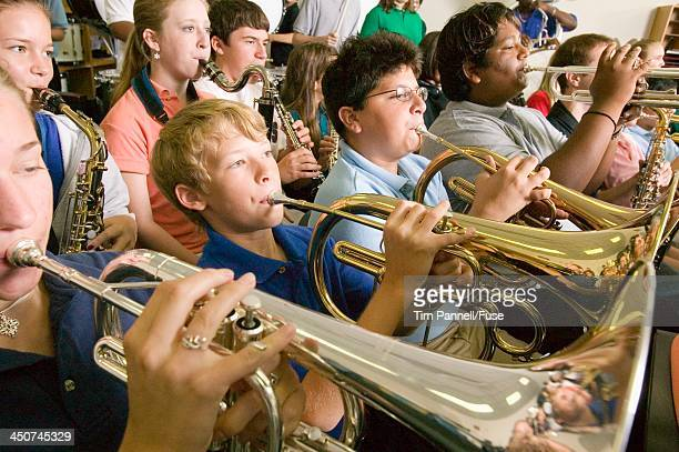 Horn Section of High School Band