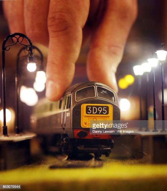 A Hornby Class 29 model train at Model Rail Scotland 2014 the biggest model railway show held in Scotland at the Scottish Exhibition and Conference...