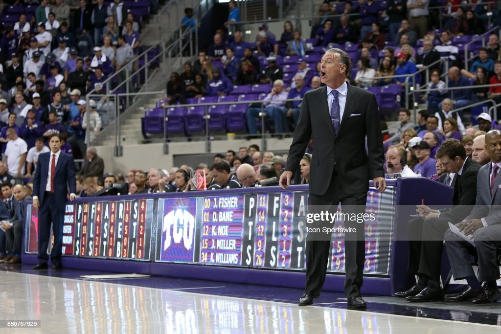 TCU Horned Frogs head coach Jamie Dixon during the game between the SMU Mustangs and TCU Horned Frogs on December 5, 2017 at Ed & Rae Schollmaier Arena in Fort Worth, TX.