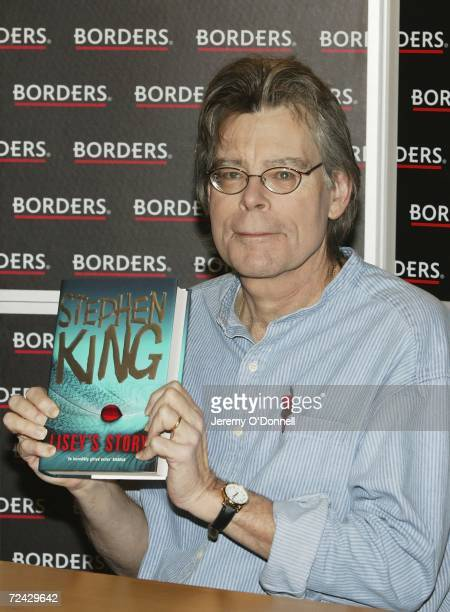 Horror writer Stephen King attends a signing session for his new novel 'Lisey's Story' at Borders bookstore on Oxford Street on November 7 2006 in...