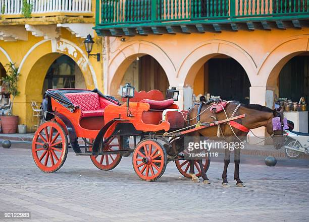 Horse Carriage In Cartagena, Colombia