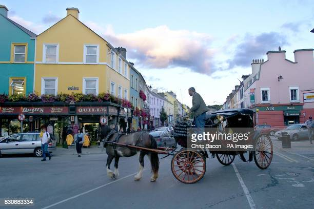 A horse carriage turn into the main street in Kenmare Co Kerry If former US president Bill Clinton is looking for a tranquil spot to write his...