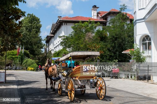 Horse carriages at Buyukada in Istanbul
