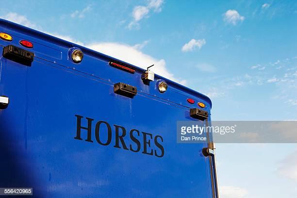 Horse carrier, horse racing