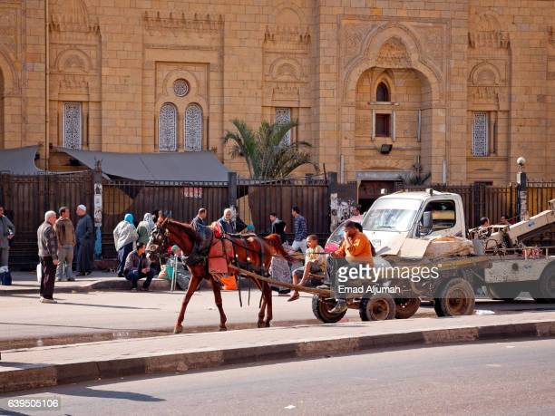 Horse drawn carriage in Downtown Cairo, Egypt