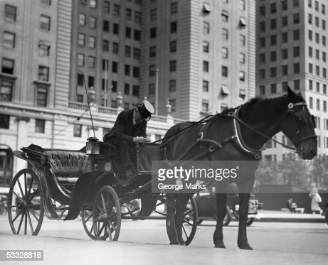 Horse drawn carriage, NYC : Stock Photo