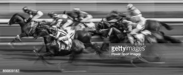 Horse Five Stars Agent ridden by Jack Wong Honam competes during the race 5 of HKJC Horse Racing 201718 at the Sha Tin Racecourse on 16 September...
