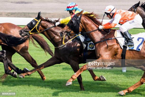 Horse Glenealy Prize ridden by Brett Prebble competes during the race 6 of HKJC Horse Racing 201718 at the Sha Tin Racecourse on 16 September 2017 in...