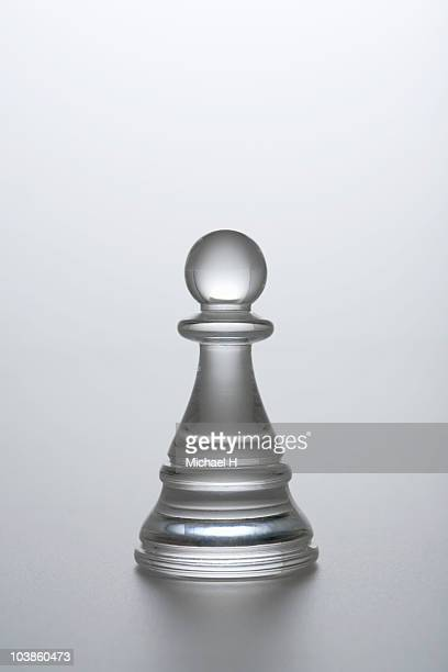 Horse of chess of clear material (pawn)