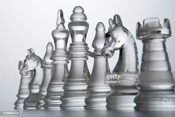 Horse of chess that lines up and queues up