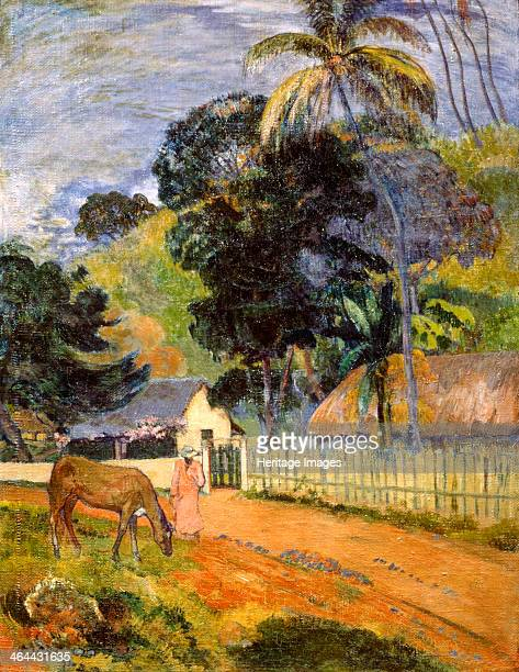 Horse on Road Tahitian Landscape' 1899 Found in the collection of the State A Pushkin Museum of Fine Arts Moscow