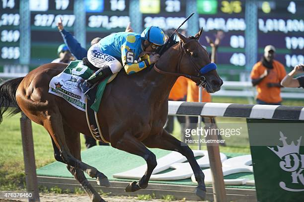 Belmont Stakes Victor Espinoza in action aboard American Pharoah during race at Belmont Park American Pharoah wins Triple Crown Elmont NY CREDIT...