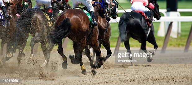 Horse Racing down the stretch they come