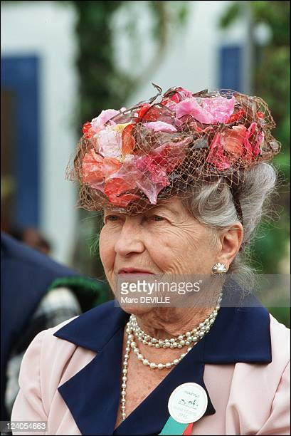 Horse Racing 'Grand prix de Diane' In Chantilly France On June 11 1995 Isabelle of Orleans countess of Paris